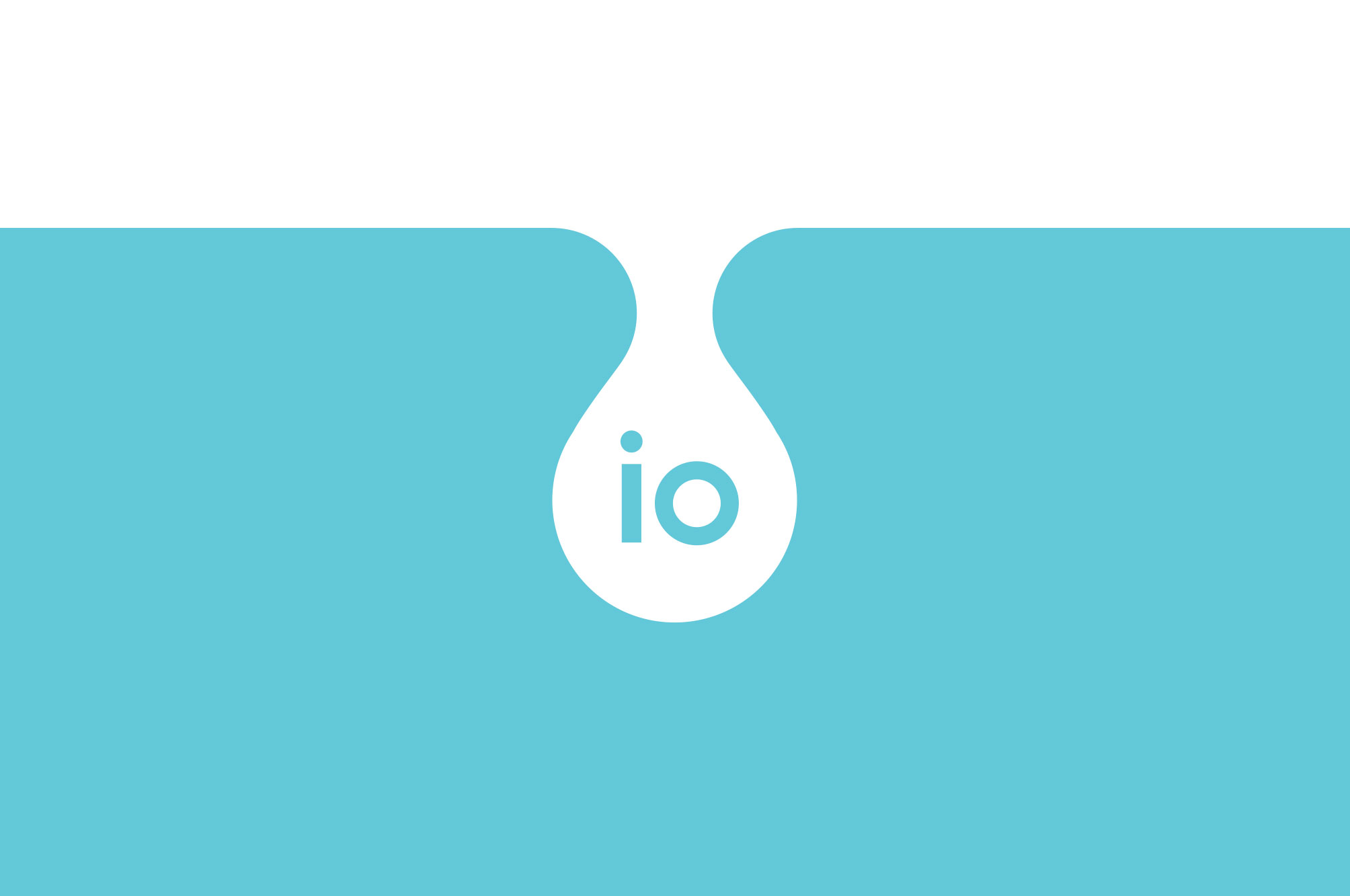 IO Water Bottle Logo Design