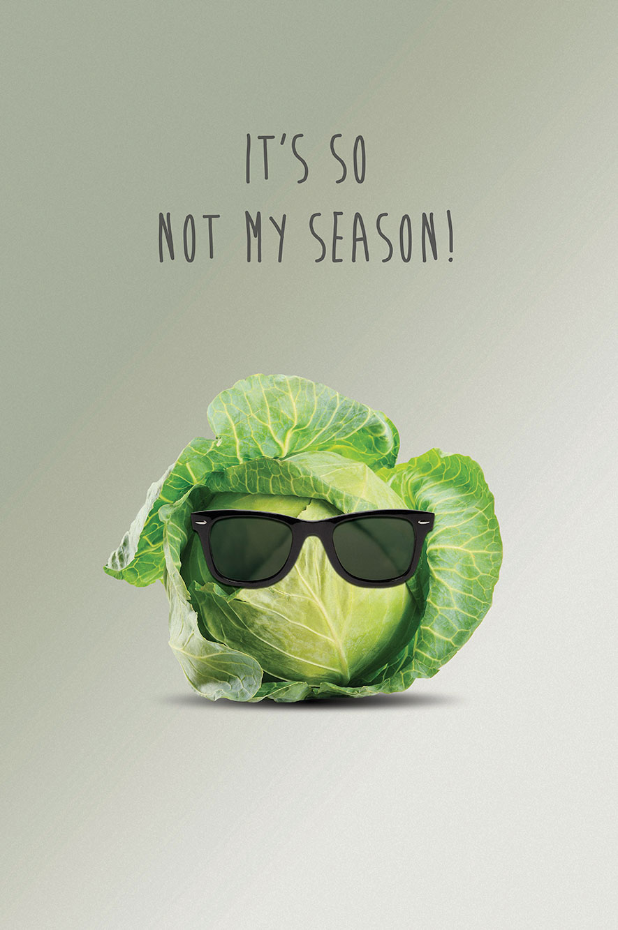 Do The Green Thing Cabbage with Sunglasses