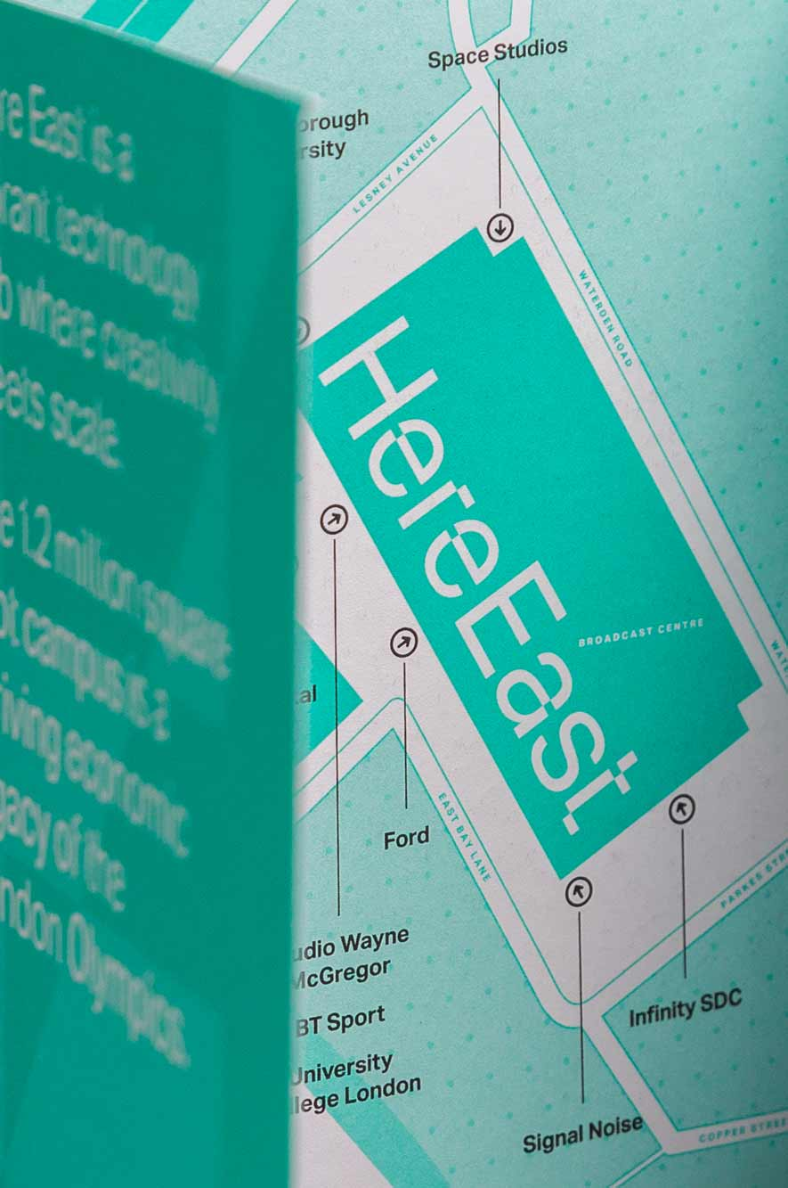 Here East Bus Driver Brochure Close Up