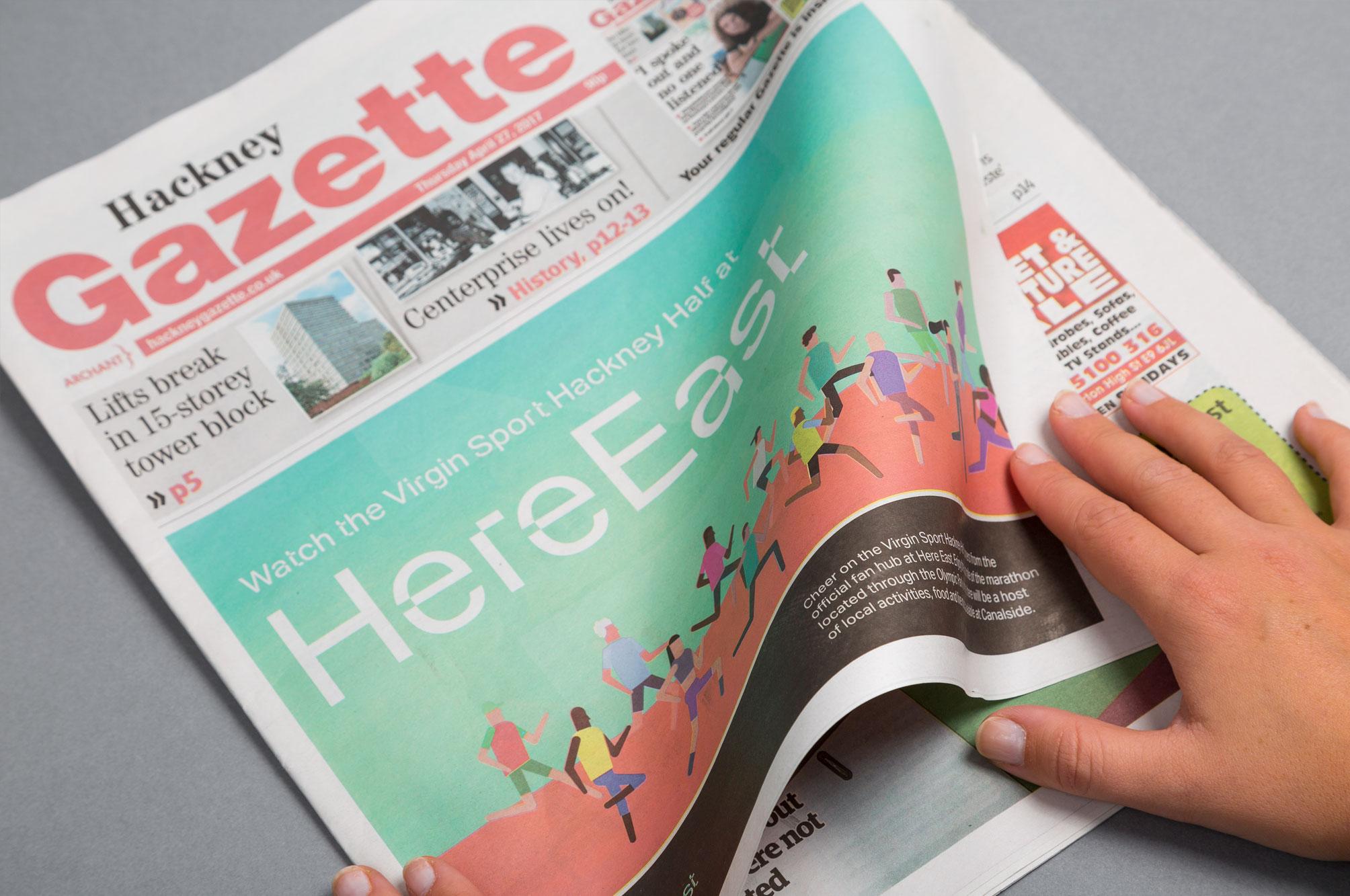 Here East Newspaper Page Turn