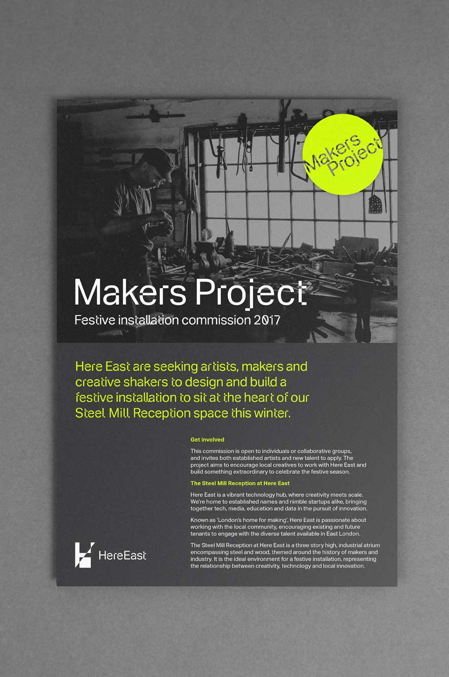 Makers Project A5 flyer artwork