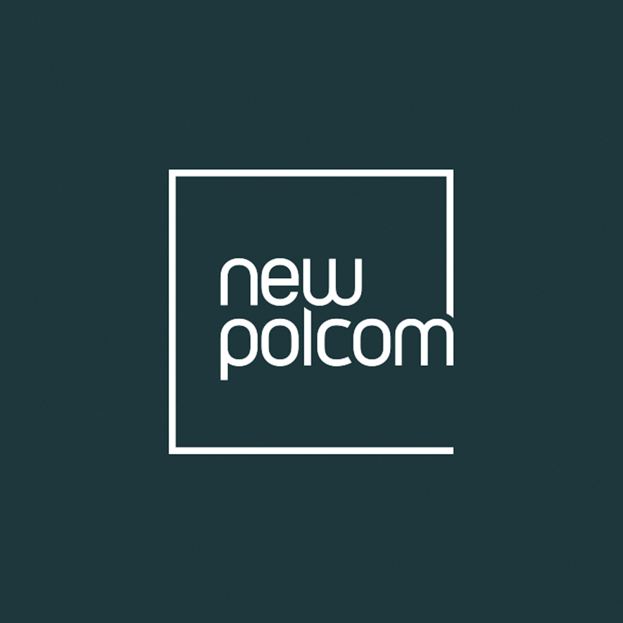 NewPolCom Logo in dark blue