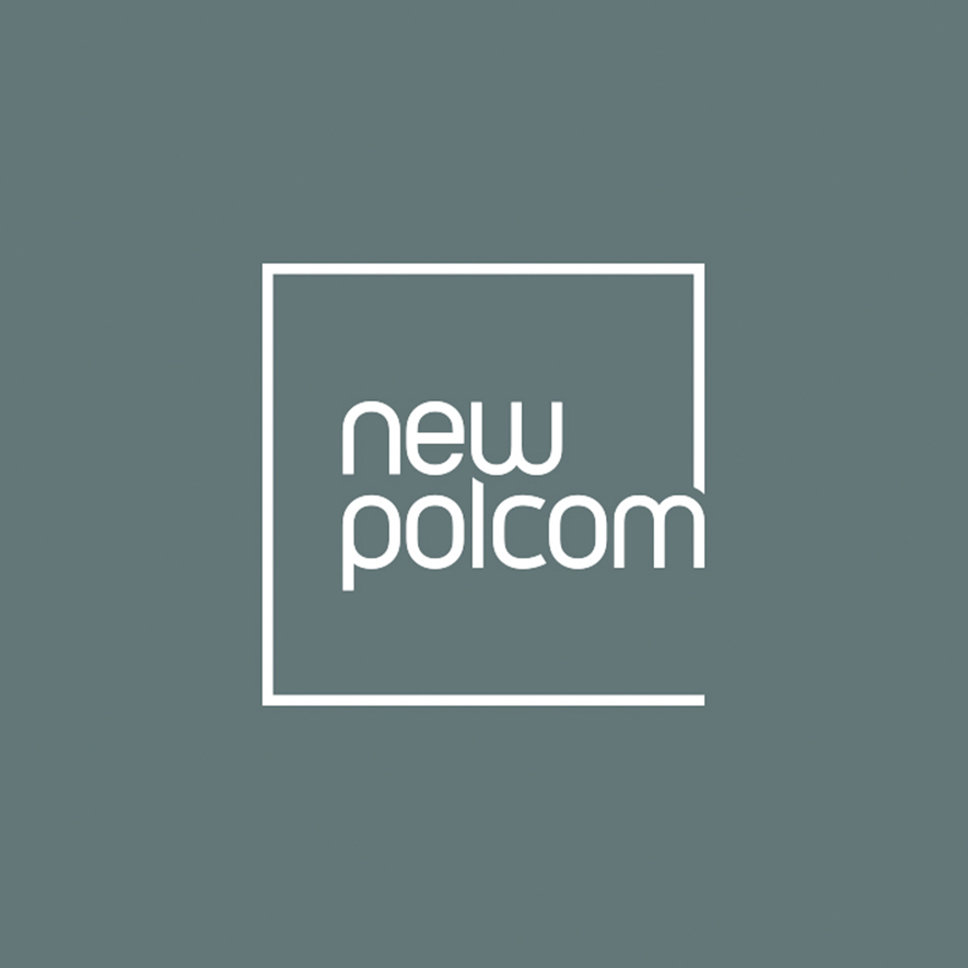 NewPolCom Logo in grey