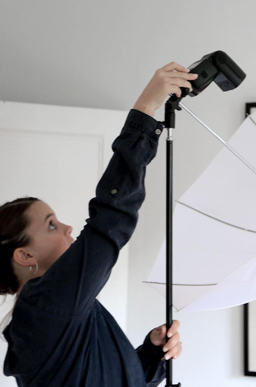 Naomi Whiteside in the photography studio