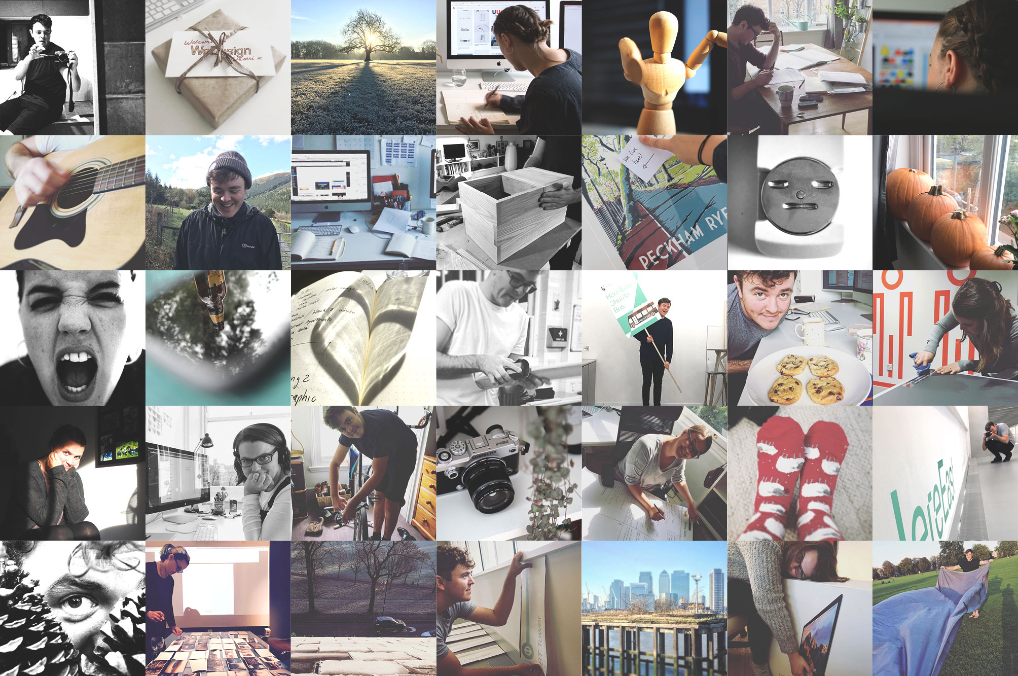 Montage of WeDesign studio pictures