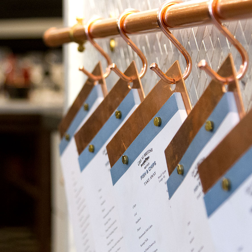 The Great British Menus On Copper Hooks