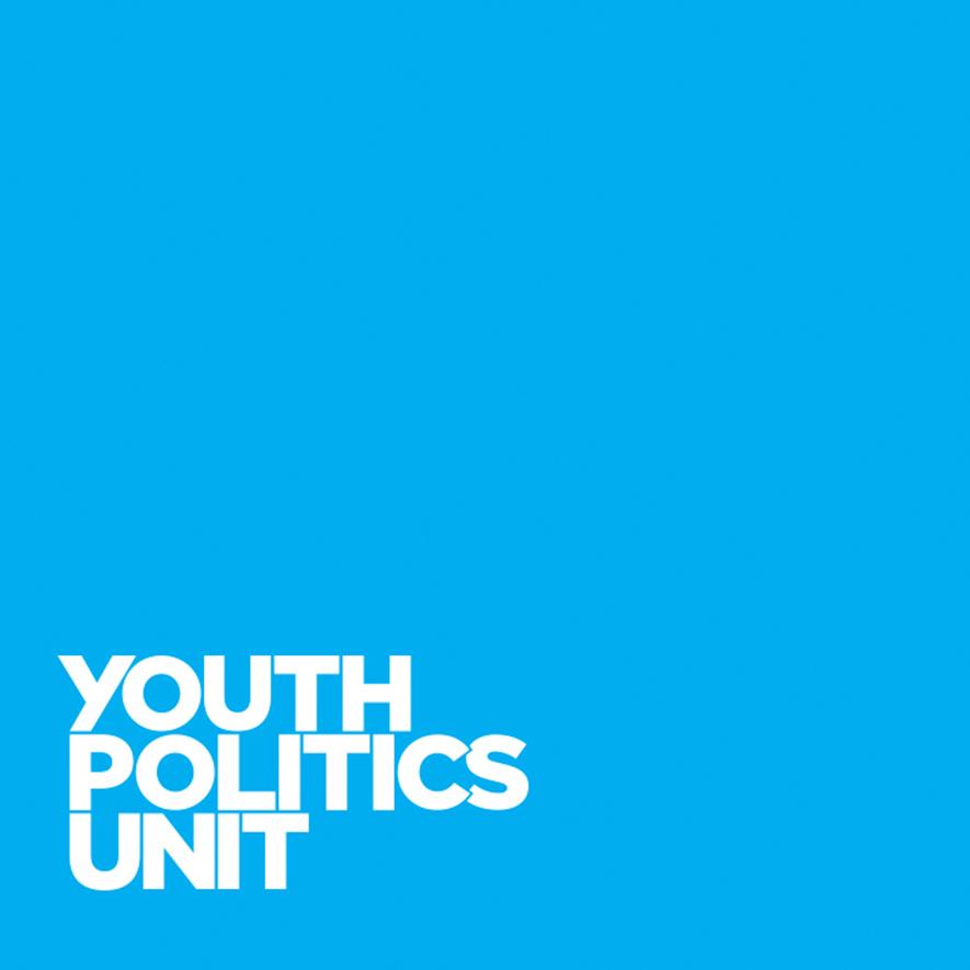 Youth Politics Unit logo on blue background