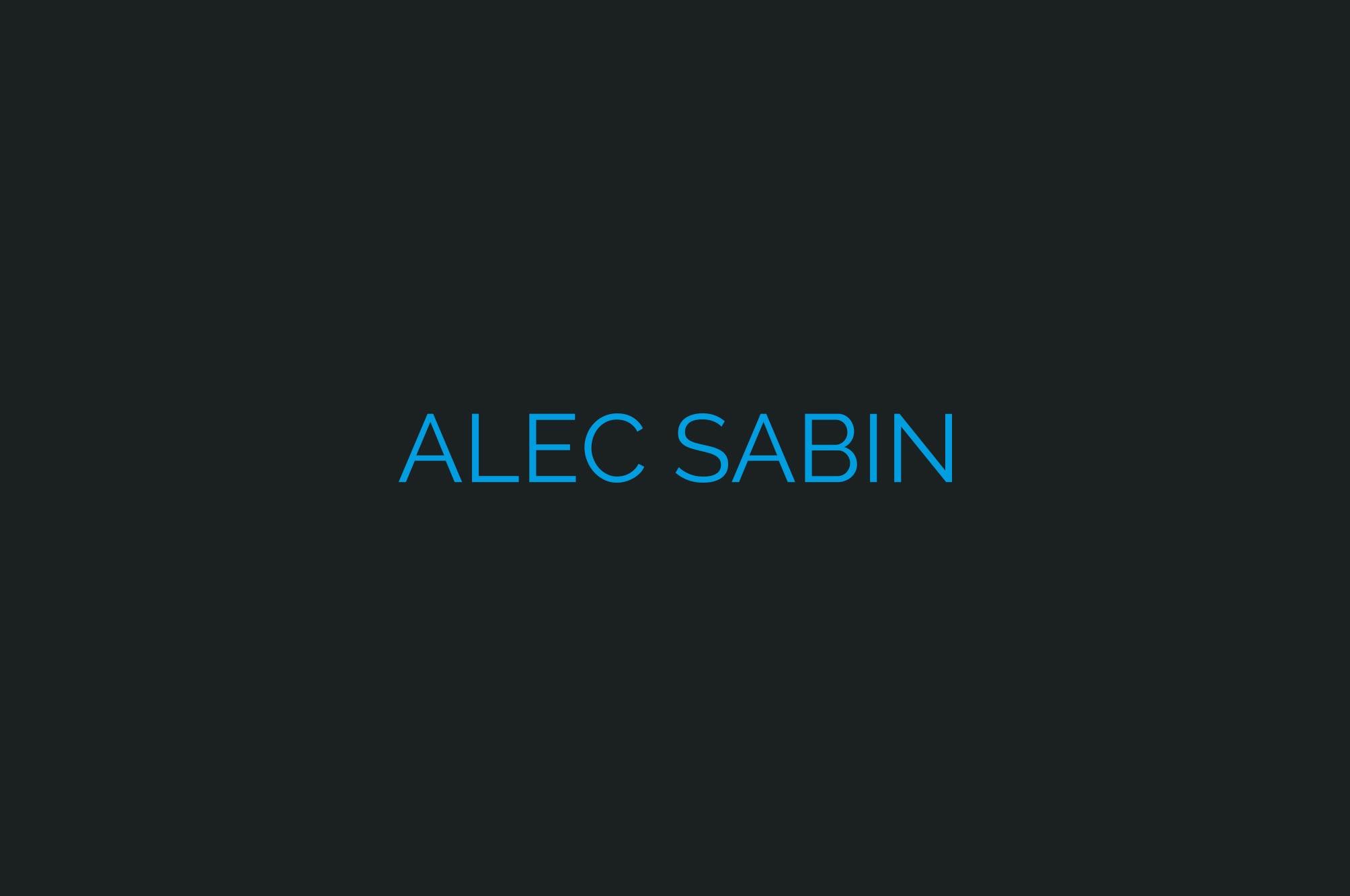 Alec Sabin Logo Blue