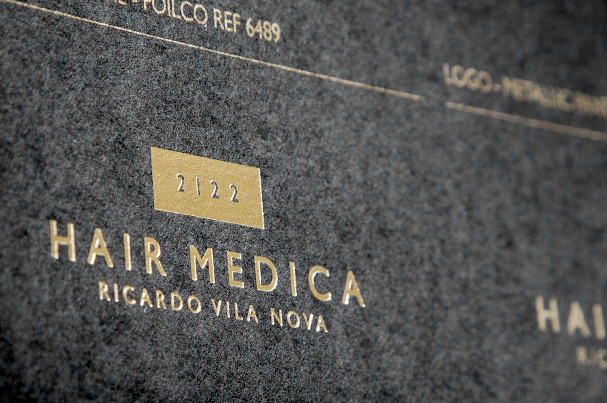 2122 Hair Medica Gold Foil Logo