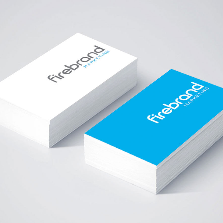 Firebrand Marketing logo on business cards