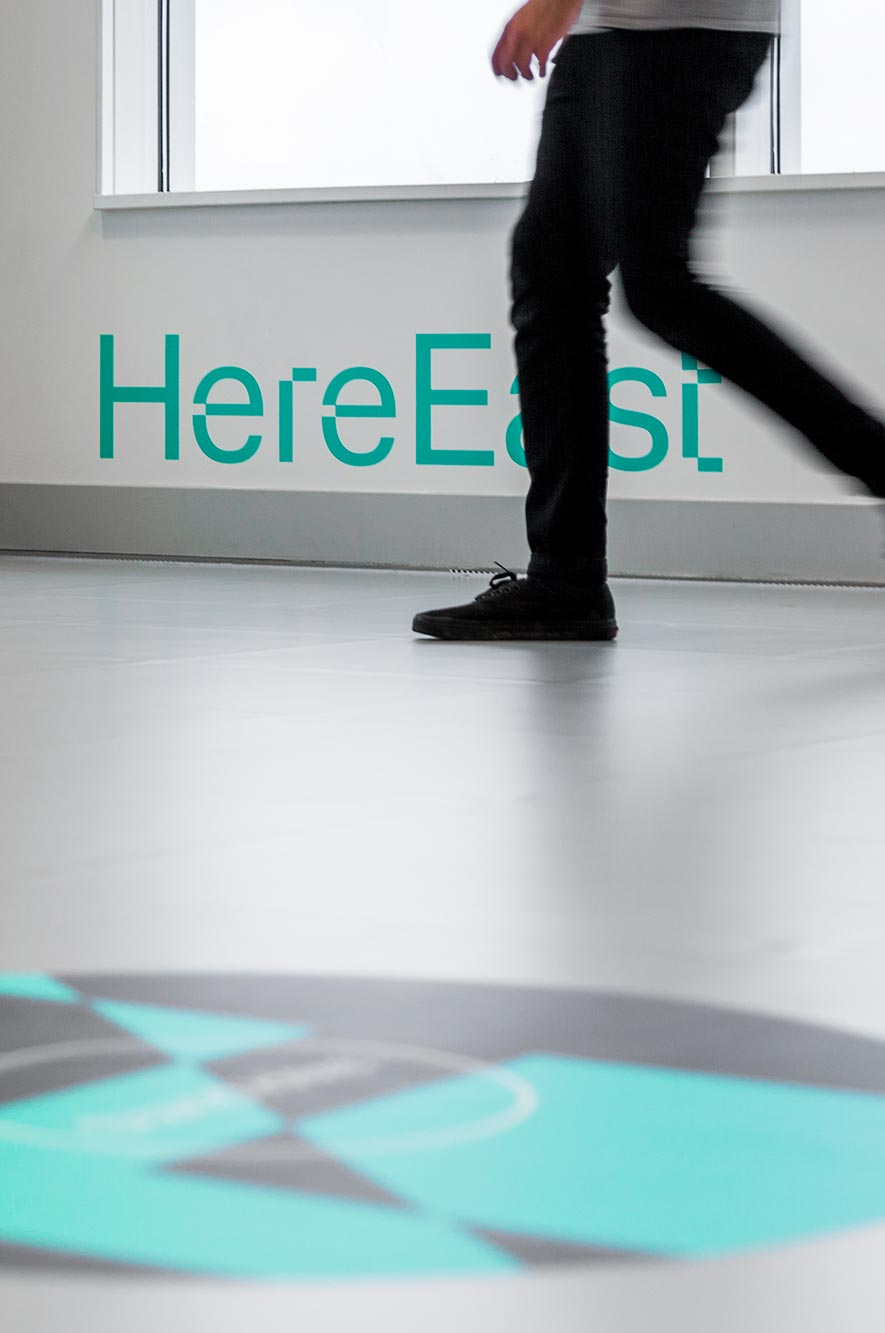 Here East Locations Stand Here Logo