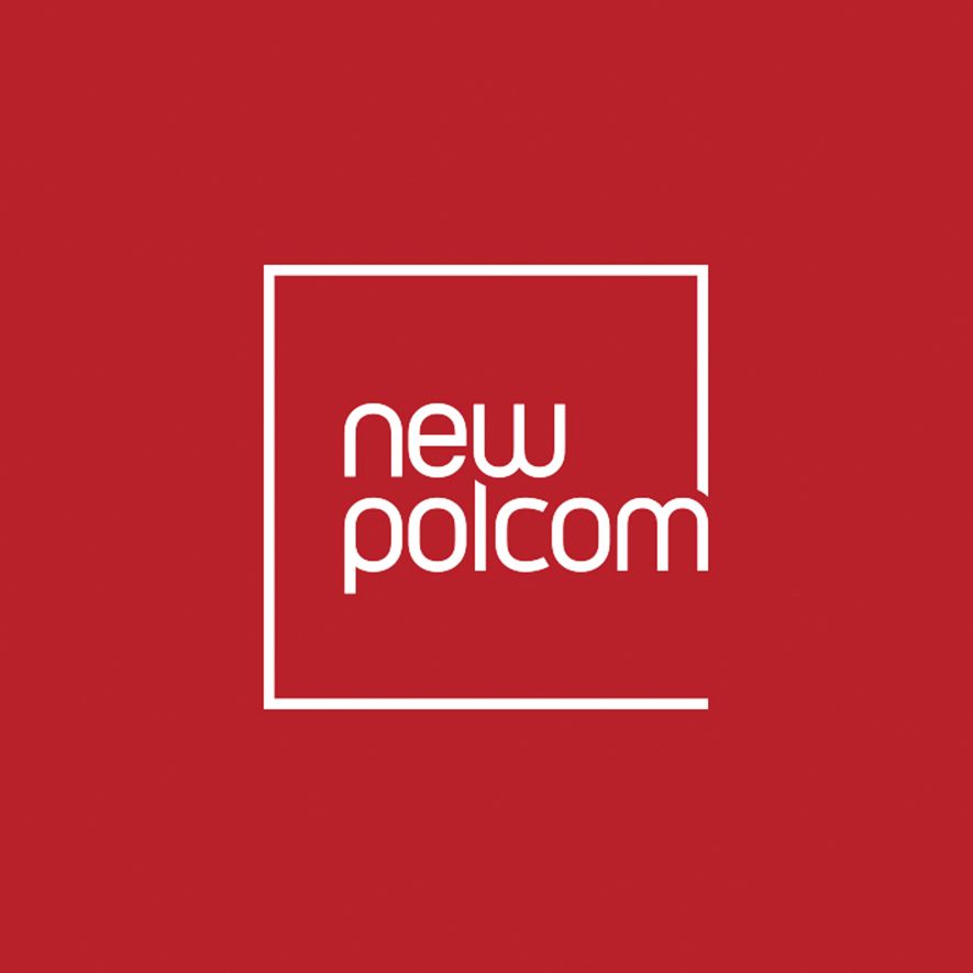 NewPolCom Logo in red