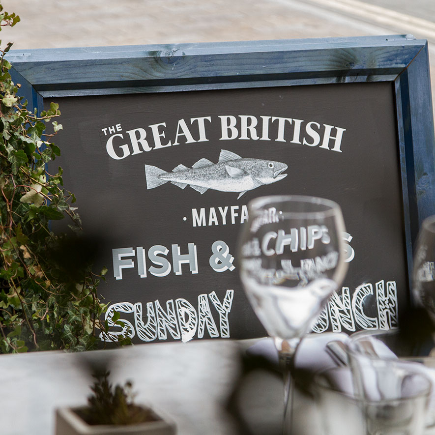 The Great British Menu Board