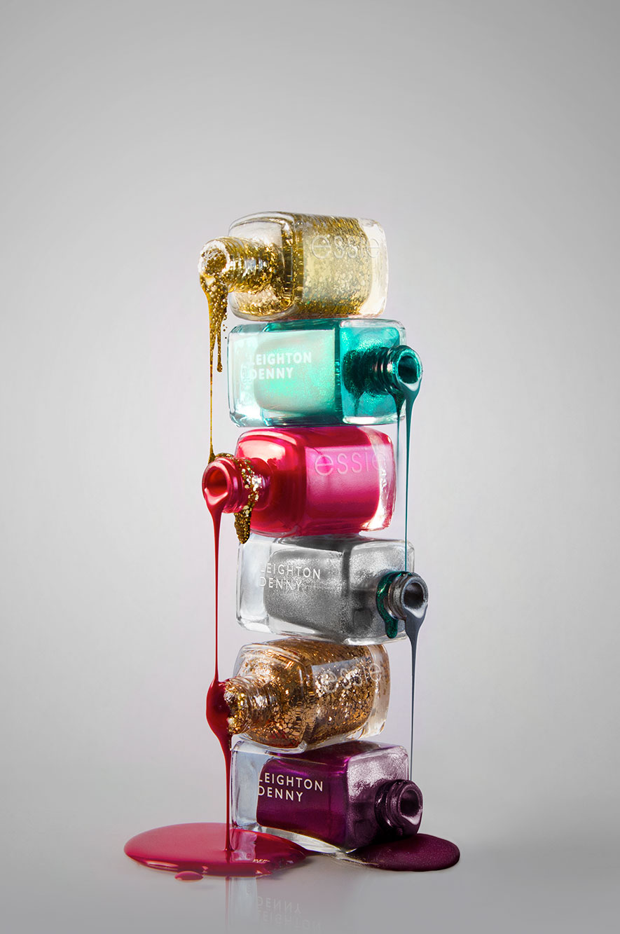 Nail polish in a stack with dripping flow | WeDesign