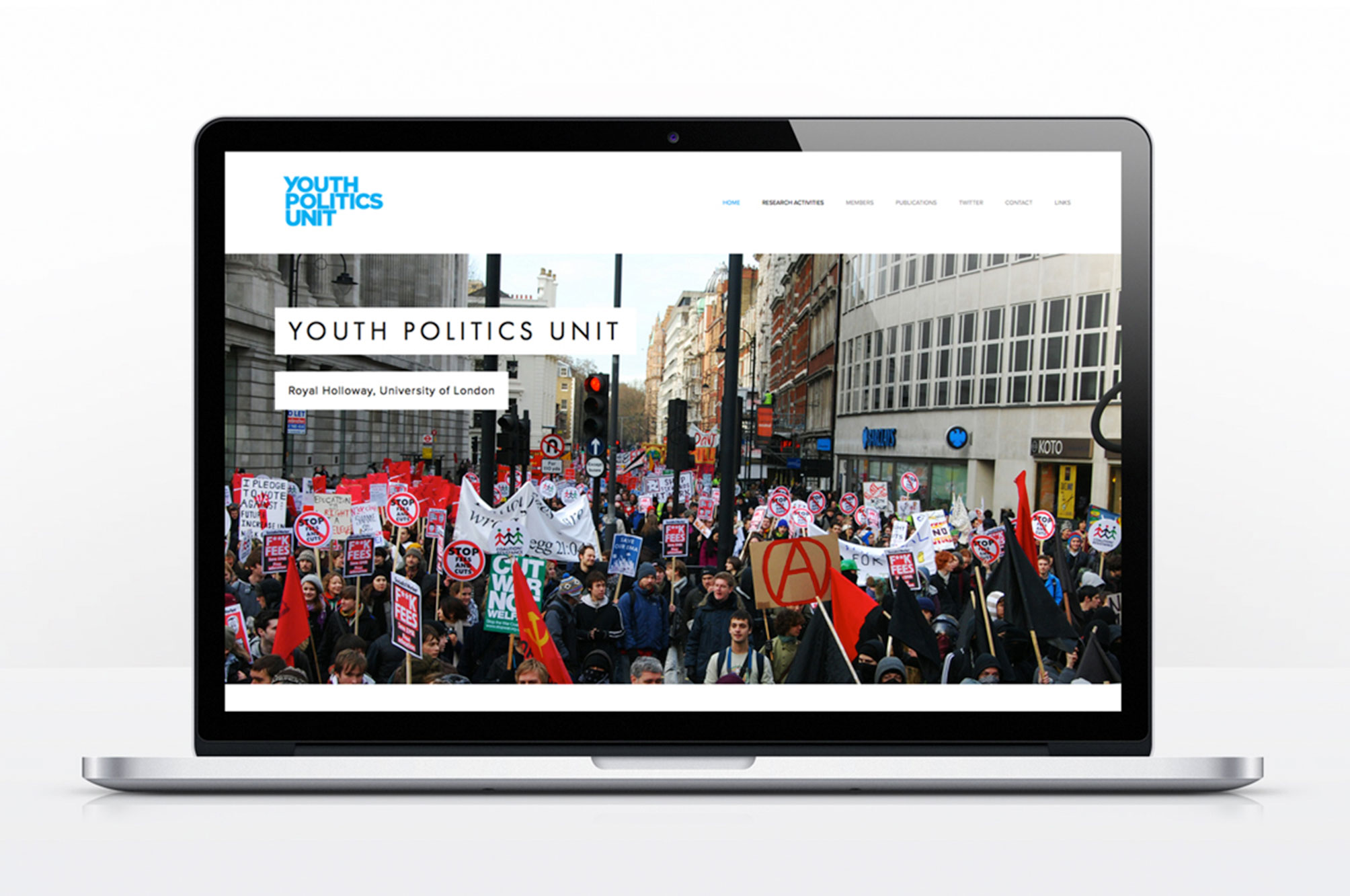 Youth Politics Unit logo on website background