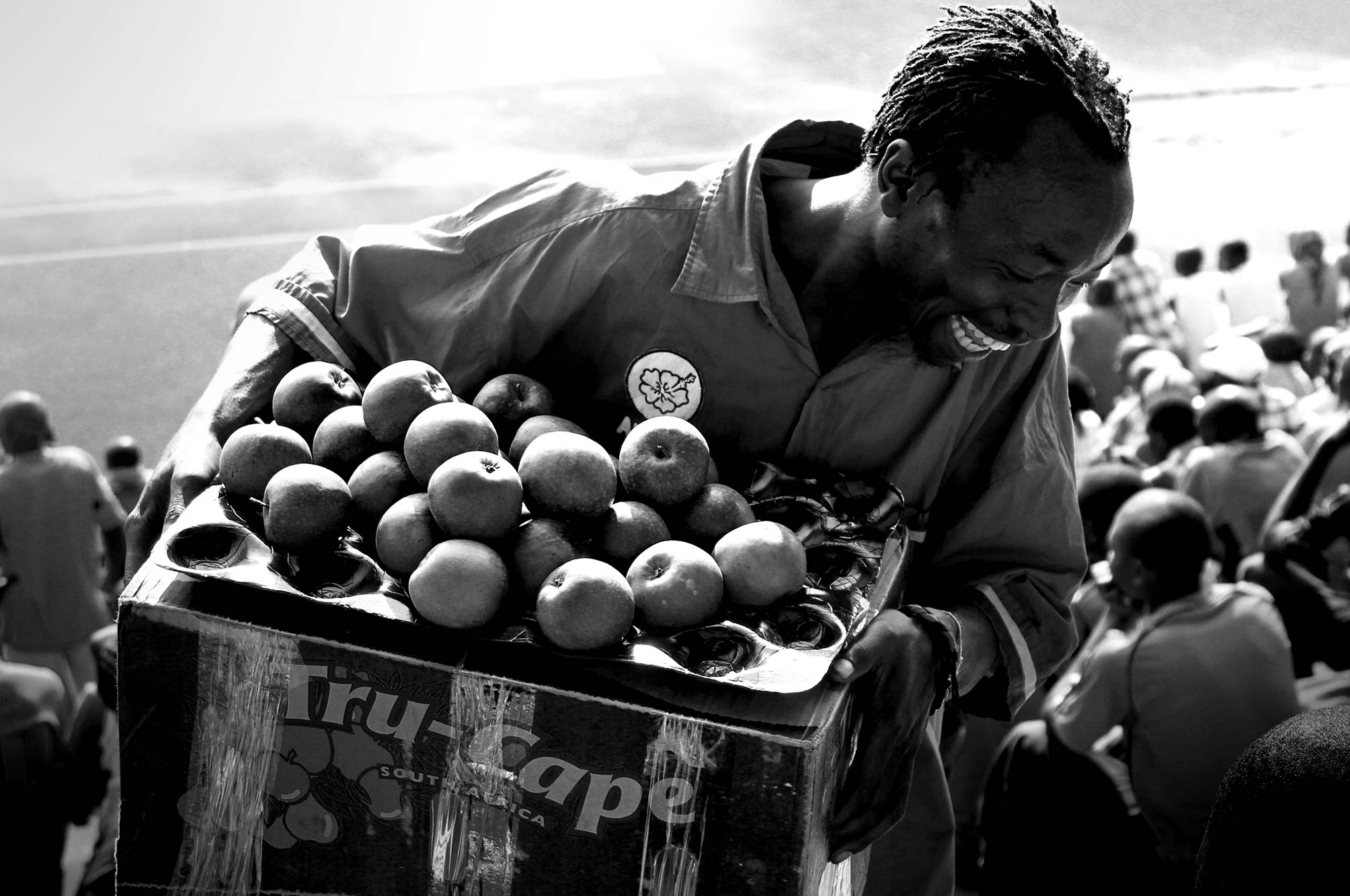 Uganda Apple Seller at Mandela National Stadium