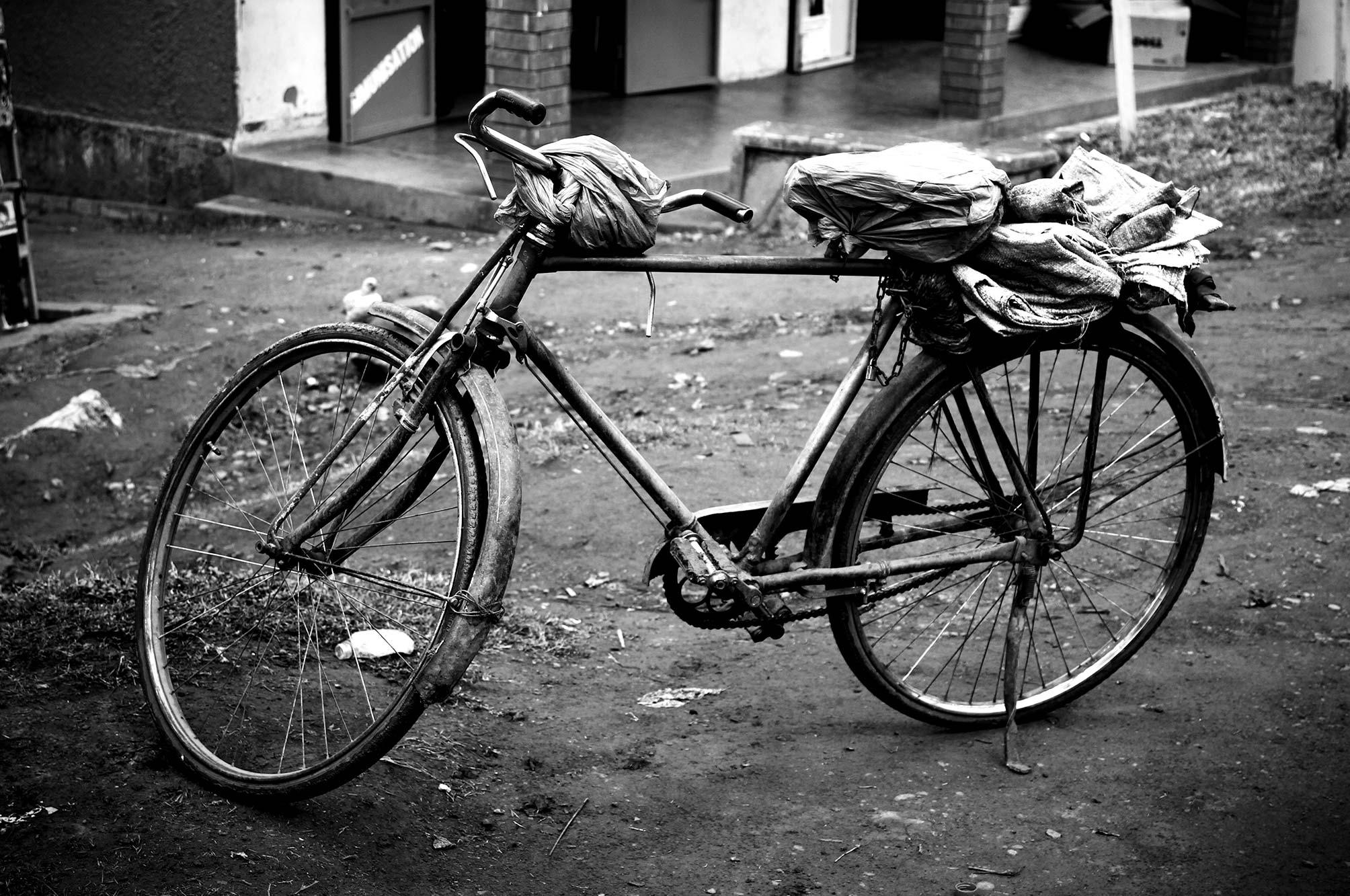 Uganda Bike with rack on the back