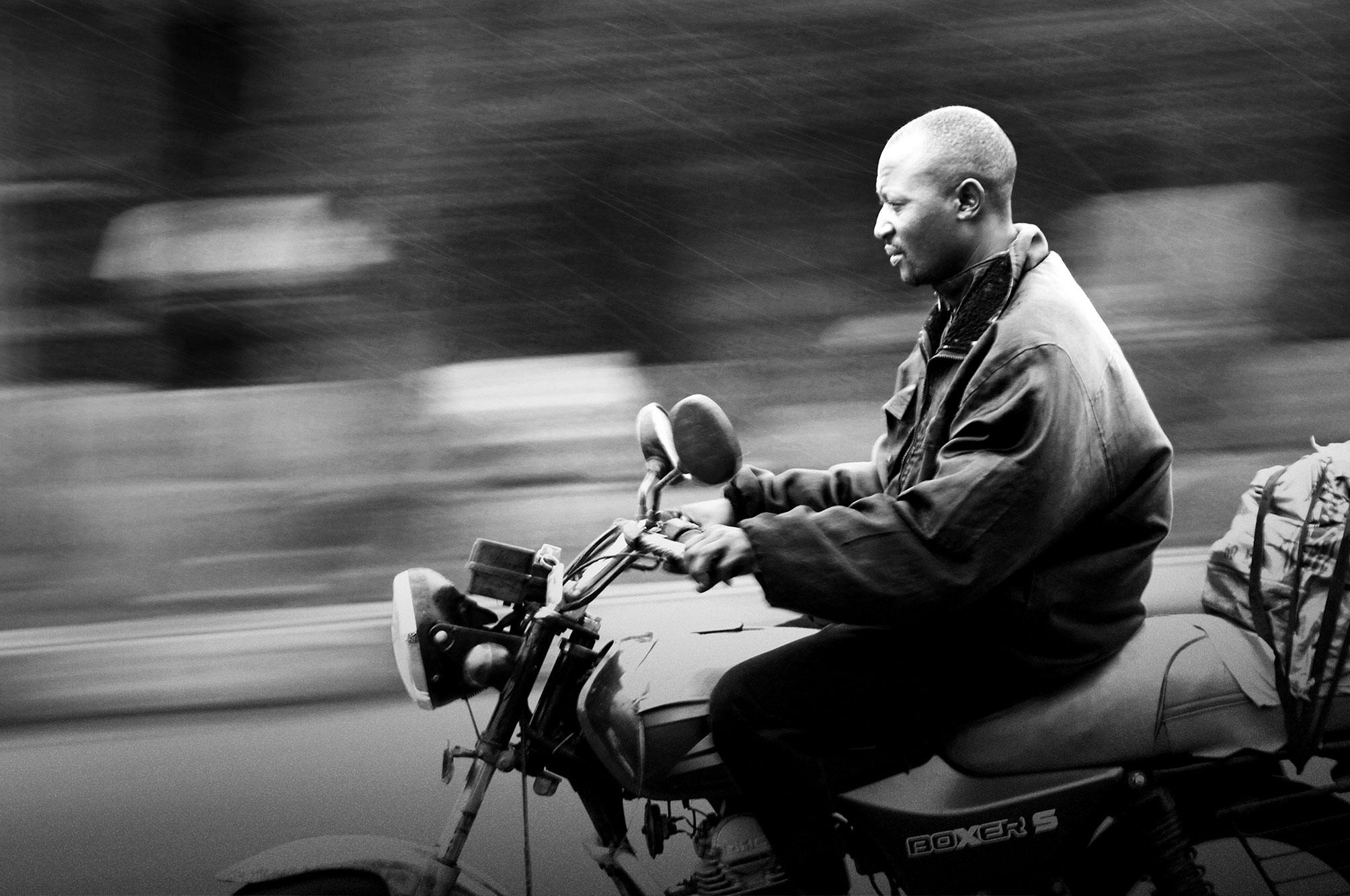 Uganda Man on Motorbike