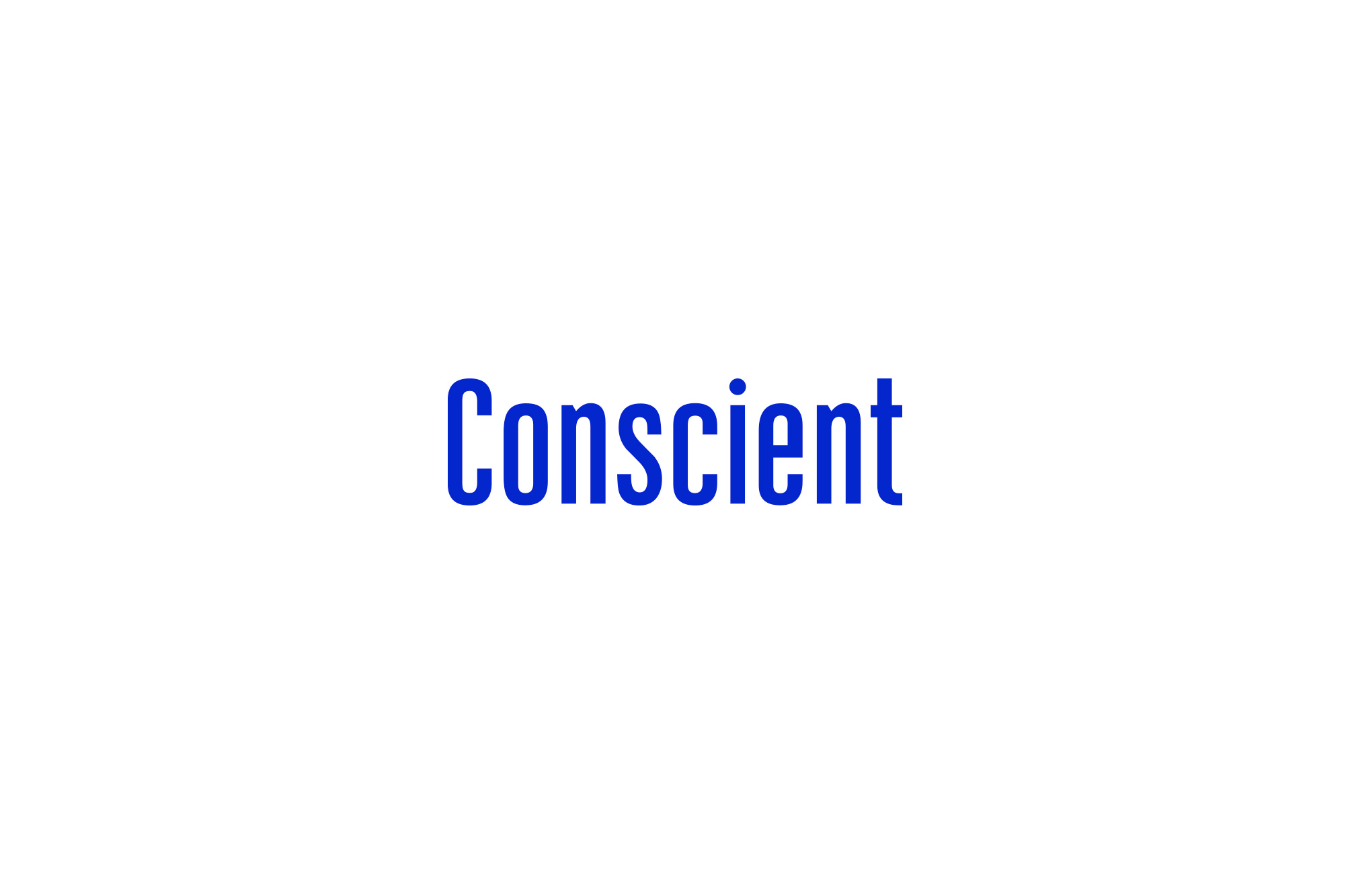 Conscient Logo in blue